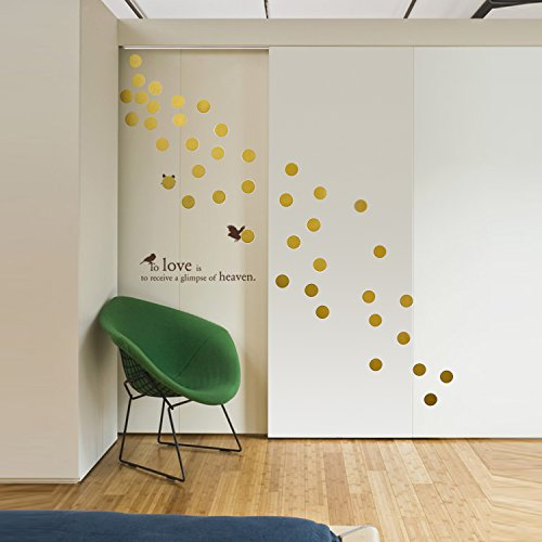 3d Large Size Round Dots Tree Wall Stickers Home Decor: Gold Wall Decals Polka Dots Wall Stickers Vinyl Round