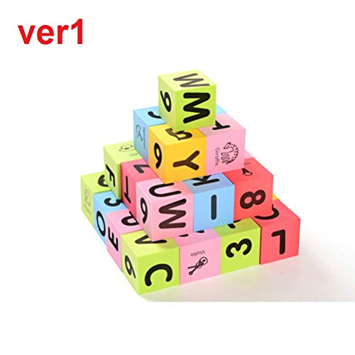 (Baby Big Size Foam Eva Learn Number Alphabet Letters ABC 123 Animal Multi-colored Child Soft Blocks Educational Toys,1SET=30PCS)