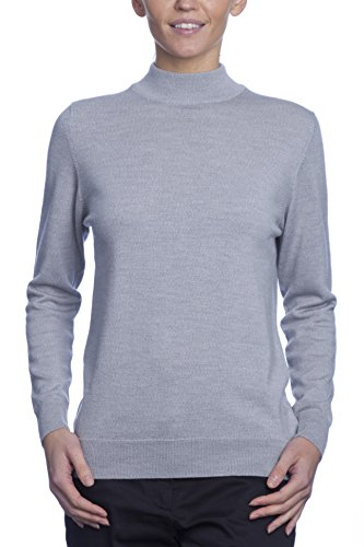 Merino Wool Mock Turtleneck - Great and British Knitwear Ladies' 100% Merino Wool Mock Turtle Neck Sweater. Made in Scotland-Mercury-XX-Large