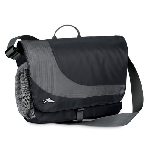 - High Sierra Chip Messenger Bag,Black/Charcoal (Charcoal Lining)