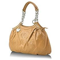 Butterflies Womens Handbag CamelBNS 0347