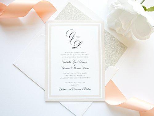 Blush Wedding Invitation Set- SAMPLE SET (Invitation Wedding Set Formal)