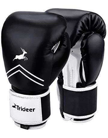 981b3a7b254 Trideer Pro Grade Boxing Gloves, Kickboxing Bagwork Gel Sparring Training  Gloves, Muay Thai Style