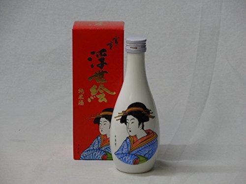 海外のお友達には日本酒 宮の雪 純米酒 浮世絵 (宮崎本店) 300ml