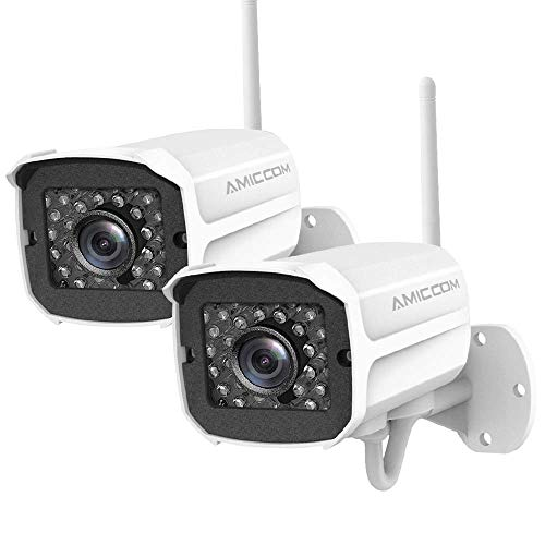 Outdoor Security Camera 2 Pack 1080p Ip Cam 2 4g Ip66 Waterproof Night Vision Surveillance System With Two Way Audio Motion Detection Activity Alert Deterrent Alarm Ios Android App