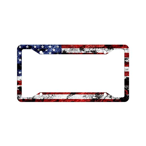 USA-License-Plate-Frame-Quality-Aluminum-License-Plate-Cover