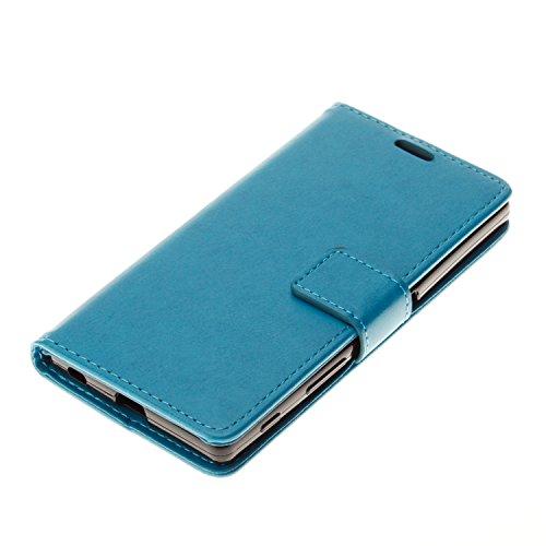 PU Xperia Z5funda Flip cover de piel para Sony Xperia Z5Flip Cover Funda Libro Con Tarjetero Función Atril magnético + Polvo Conector marrón 8 5