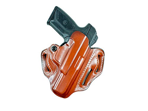 (Gunhide, 002, Speed Scabbard, Belt Holster, Fits Ruger Security 9, Right Hand, Black Leather)