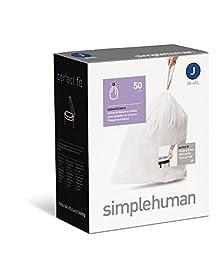 simplehuman Custom Fit Trash Can Liner J, 100-Count Box,simplehuman , JI-t