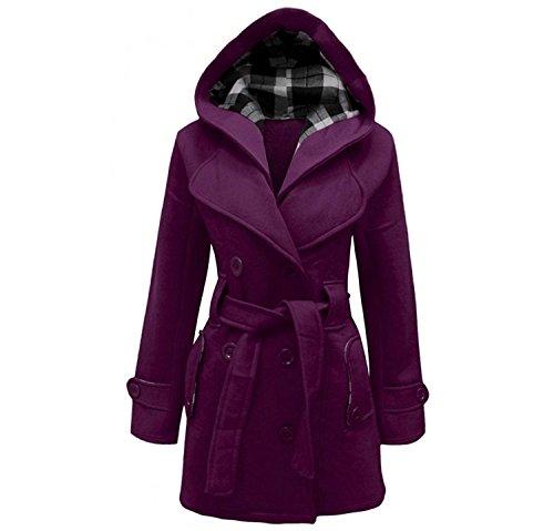 Donna lunghe Maniche Cappotto Divadames Purple Cappotto wgq78Yx4