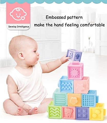 Platinum Quality Traders Baby Building Blocks Will Teach Your Baby Tactile Feeling, Animal Shapes, Math, Shapes, and its a Fun Bath Toy. Your Baby Will Love These 10 Safe Colored 2 Cubic inch Blocks.