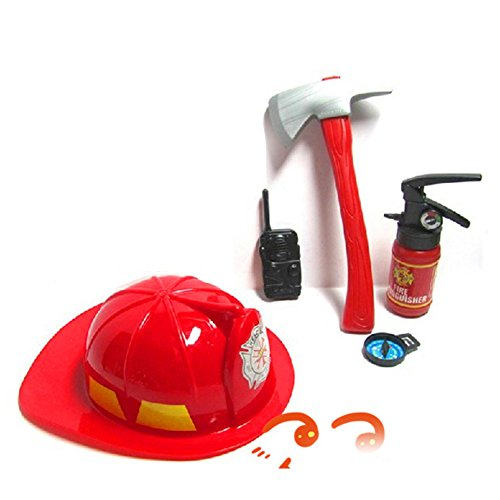 ETbotu 5 PC Kids Role Play Costume Set Toy Kit with Tools for Halloween - Fireman