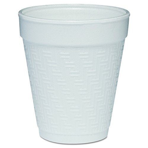 Small Greek Key (Dart 8KY8 8-Ounce capacity 3.5 Inch Height Greek Key Design Small Drink Embossed Foam Cup 25-Pack (Case of 40))