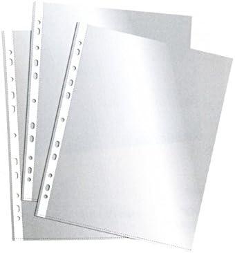 ESSELTE 2526 - Fundas portadocumentos PVC con refuerzo 80 micras (caja 100 ud.) Cuarto. 11 taladros: Amazon.es: Oficina y papelería