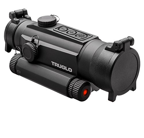 TRUGLO TRU-TEC 30mm Tactical Red Dot Sight, Red Laser ()