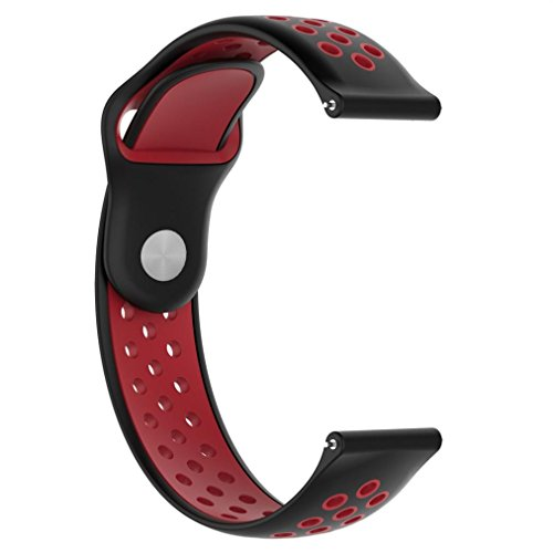 Price comparison product image Outsta for Huami Amazfit Watch Band,  Silicone Fashion Ventilate Sport Strap Wristband Replacemen Accessories Smart Watch Band Women Men Multicolor (A)