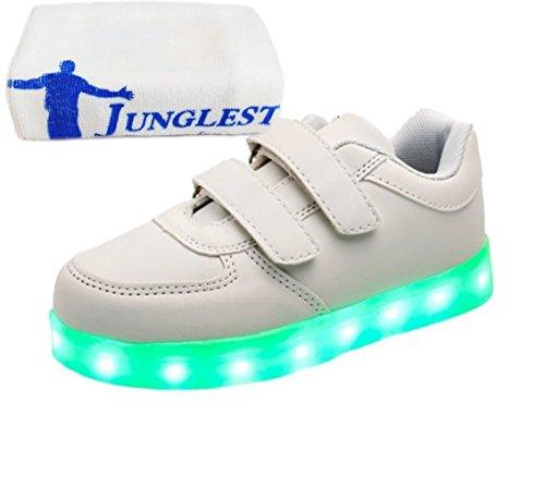 (Present:kleines Handtuch)JUNGLEST® 7 Farbe USB Aufladen LED Leuchtend Sport Schuhe Sportschuhe High Top Sneaker Turnschuhe für Unisex-Erwa c28
