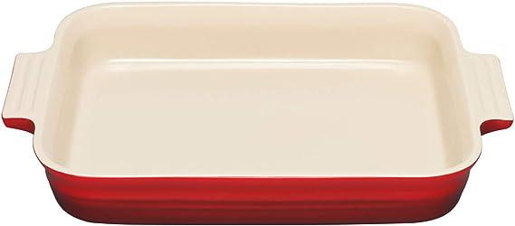 "Le Creuset 9 1//2/"" Round Baking Dish /& Lid 2.2 Qt Volcanic Flame Orange Stoneware"