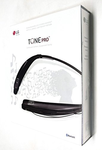 LG Tone Pro HBS-770 Wireless Stereo Headset - Black (Lg Tone Pro Stereo Bluetooth Headset White)