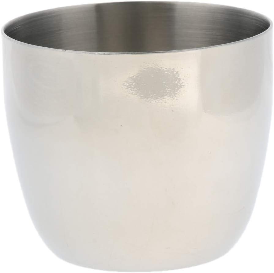 CUTICATE El Vaso Aislado De La Taza De La Taza De Té De La Cerveza del Café del Agua del Acero Inoxidable 240ml Aisló Fresco - Plata Clara