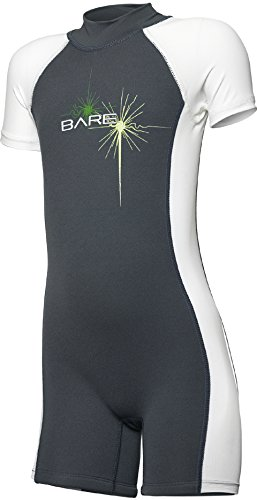 Bare Sprint Shorty Wetsuit for Toddlers & Kids, Grey, (Bare Dive Suits)