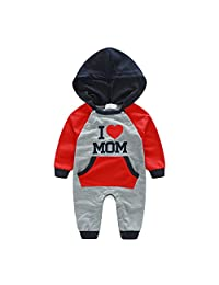 Meiruian Newborn Baby Boys Girls Hooded Clothes Outfits Hoodie Jumpsuit Rompers