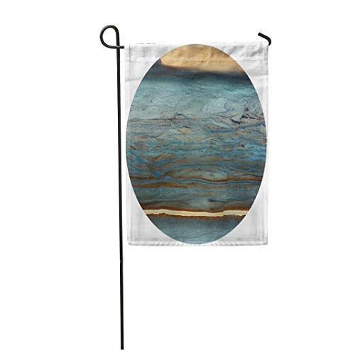 Tarolo Decoration Flag Blue Gloss Unique of Natural Stone Marble Onyx Opal Granite Green Hard Architecture Thick Fabric Double Sided Home Garden Flag 12