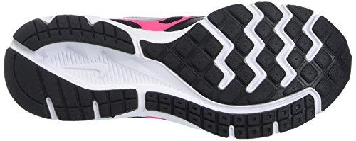 NIKE Kinder Downshifter 6 (GS / PS) Laufschuhe Schwarz / Hyper Pink / Weiß / Metallic Silber