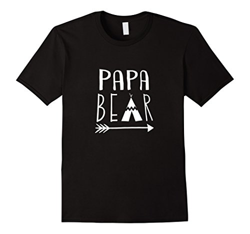 Men's Papa Bear t-shirt Large Black (Papa Bear)