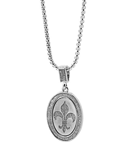 Mens Silver Stardust Iced Out Ace Medallion Pendant Hip Hop 24