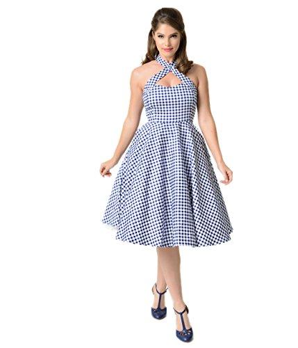 White Gingham Dress - 7