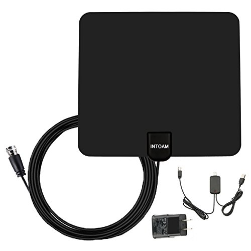 #LightningDeal 93% claimed: Amplified TV Antenna Indoor, HDTV Digtial HD Antennas, Leaf Antenna - 50 Miles Long Range - 10ft Coax Cable