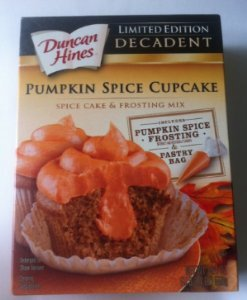 Duncan Hines Decadent Cupcake Mix, 19.4 Ounce (Pack of 2) (Pumpkin Spice) (Pumpkin Spice Cupcakes)