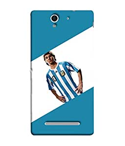 ColorKing Football Messi Argentina 08 Multi Color shell case cover for Sony Xperia C3