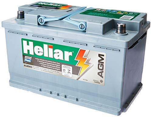 Bateria Automotiva 80Ah Ac.El.Ag80Kd U/C Heliar Agm Plus