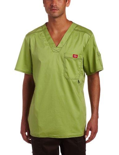 - Dickies Men's Generation Flex Utility Scrubs V-Neck Shirt, Desert Sage, Medium
