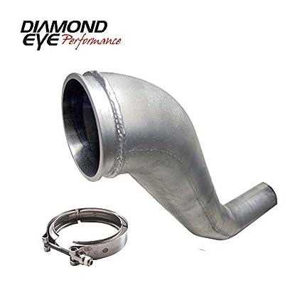Amazon.com: Diamond Eye Kit 4In Dwnp Hx40 Turbo-Direct Flange W/V-Band Clamp Al Dodge 94-02(221043): Automotive