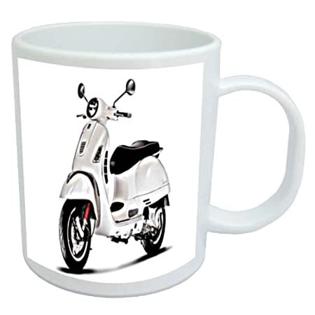 Coffee Mug with Vespa GTS 300 Image Black