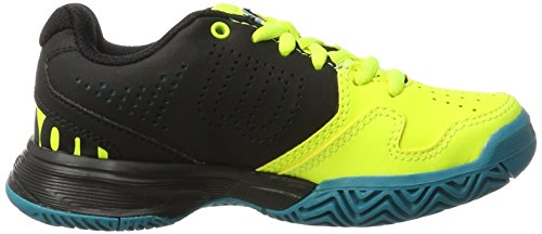 Wilson Kaos Comp Jr Safety Yel/Bk/Enamel B 11.5, Scarpe da Tennis Unisex-Bambini, Giallo (Safety Yellow/Black/Enamel Blue), 29.5 EU