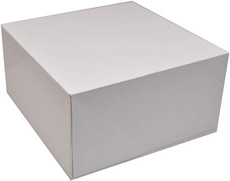 Caja cuadrada de cartón con tapa, 25,4 x 25,4 cm, caja de regalo ...