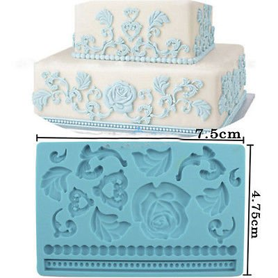 Silicone Baroque Fondant and Gum Paste Molds Easter Fandant