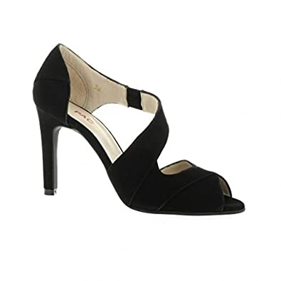 f6c156707cf8b Vidi studio Nu Pieds Cuir Velours Noir - 37  Amazon.fr  Chaussures ...
