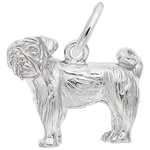 (Rembrandt Charms Pug Charm, Sterling Silver)