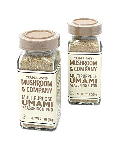 Trader Joe's Mushroom & Company Multipurpose UMAMI Seasoning Blend NET WT. (2 Packs) 2.1 OZ (Pork Chops And French Onion Soup Mix)