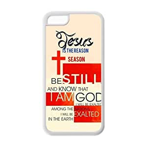 MMZ DIY PHONE CASEApple ipod touch 5 Case Cover TPU Bible quote Hipster Elegant Cross Jesuse God PSALM 46:16