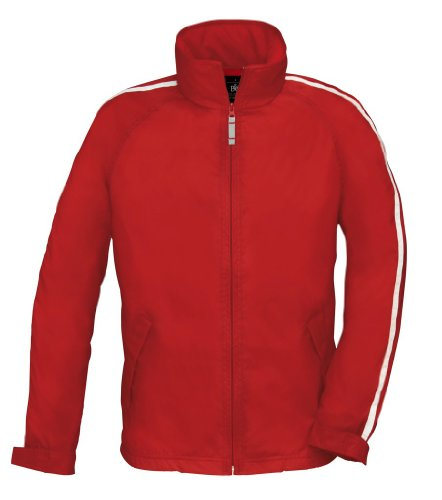 B&C Herren Trainingsjacke 'Urban Game' mit Kontraststreifen Urban Game Red/White 3XL
