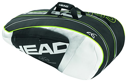 Head Djokovic Backpack - Head Novak Djokovic 9R Supercombi Tennis Racquet Bag for 9 Racquets