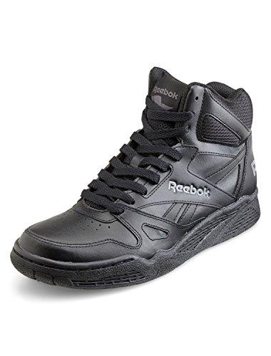 Reebok Men's Royal Bb4500h Xw Fashion Sneaker, Black/Shark, 14 4E US (Top Mens High Leather Shoes Black)