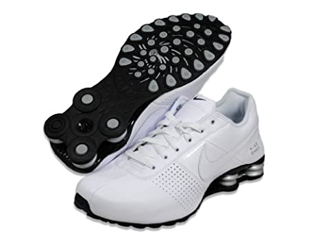 Nike Shox Deliver 317547-109 White/Metallic Silver/Black Mens Running Shoes (size 12)