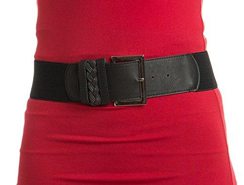 Womens Timeless Design Black Stretch Belt ()